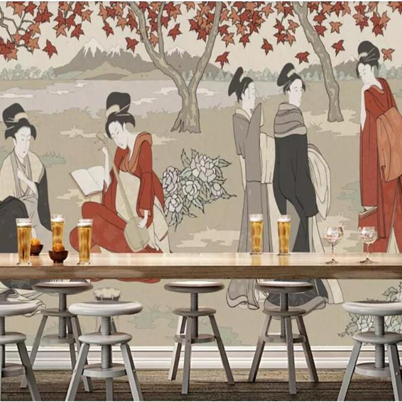 Custom Wallpaper Mural Vintage Japanese Style Wallcovering