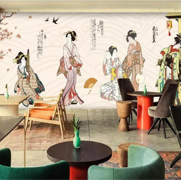 vintage-wallpaper-japanese-woman-garden-tooling-photo-wallpaper-wall-wallpaper-3d-background-papier-peint-mural-3d