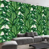 European-retro-hand-painted-rainforest-plant-banana-leaf-photo-wallpaper-decorative-mural-living-room-background-papier-peint