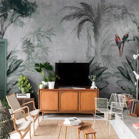 custom-wallpaper-mural-tropical-rainforest-parrot-Nordic-tropical-plant-leaves-modern-wallpapers-minimalist-TV-background-3D-wall-stickers-home-decor-papier-peint
