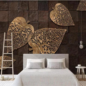 papel-de-parede-3d-european-golden-leaves-3d-wallpaper-home-decor-bedroom-living-room-background-papier-peint-mural-3d