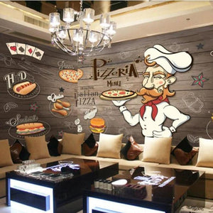 tapety-papel-de-parede-3d-wallpaper-for-walls-3d-hand-painted-wooden-pizza-restaurant-papier-peint-hudas-beauty-papier-peint