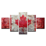 poster-canvas-painting-hd-wall-art-5-panel-canada-flag-modern-printing-type-pictures-modular-artwork-vintage-home-decoration