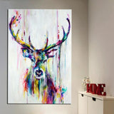 custom-abstract-deer-wall-art-print-painting-decorative-pictures-home-living-room-colorful-stag-animal-poster-canvas-drop-ship