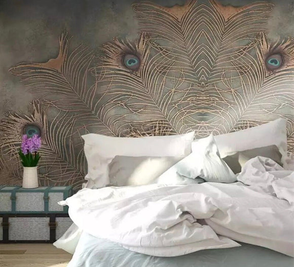 peacock-wallpaper-mural-wallcovering