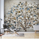 European Style Retro Abstract Art Wallpaper Mural (㎡)