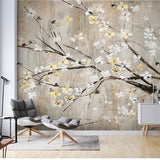 Custom Wallpaper Mural Chinese Style Flowers and Birds (㎡)