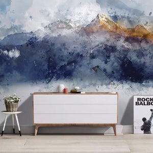 Modern Wallcovering Hand-painted Abstract Art Wallpaper Mural (㎡)
