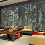 Chinese-style-hand-painted-pen-and-flower-nostalgic-pastoral-decoration-mural-wall-wallpaper-papier-peint-tropical-rainforest