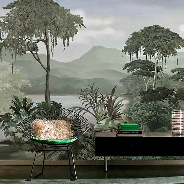 Custom Size Mural Wallpaper Abstract Woods Free Shipping