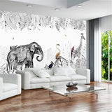 black-and-white-rain-forest-custom-wallpaper-3d-mural-study-living-room-sofa-tv-background-waterproof-canvas-wallpaper-wall-painting-papier-peint-wallcovering-nursery