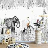 black-and-white-rain-forest-custom-wallpaper-3d-mural-study-living-room-sofa-tv-background-waterproof-canvas-wallpaper-wall-painting-papier-peint-wallcovering
