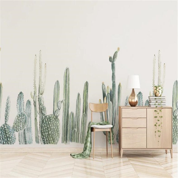 Nordic-cactus-custom-wallpaper-3d-mural-study-living-room-sofa-tv-background-waterproof-canvas-wallpaper-wall-painting-papier-peint