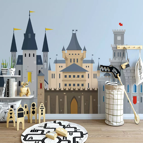Custom-3D-Photo-Wallpaper-For-Kids-Room-Cartoon-Castle-Nordic-Style-Children-Room-Bedroom-Kindergarten-Backdrop-Wall-Mural-Decor