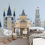 Custom Wallpaper Mural Nordic Style Cartoon Castle
