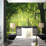 custom-3d-mural-wallpaper-papier-peint-green-forest-interior-bedroom-dining-room-living-room-photo-wall-decoration