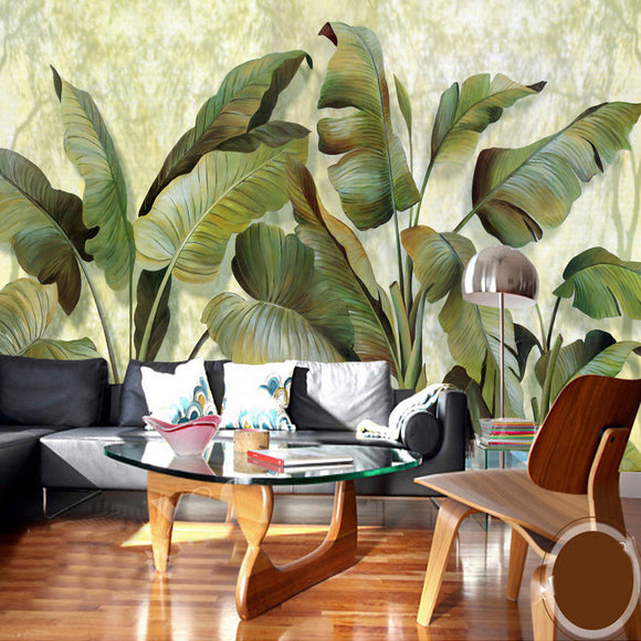 custom-mural-wallpaper-european-style-green-banana-leaf-oil-painting-canvas-home-decor-living-room-bedroom-modern-art-wallpaper