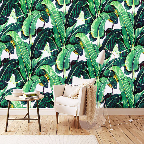 custom-wall-mural-wallpaper-european-style-retro-hand-painted-rain-forest-plant-banana-leaf-pastoral-wall-painting-wallpaper-3d