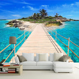 custom-photo-wallpaper-island-wooden-bridge-3d-landscape-painting-background-wall-decorations-living-room-mural-de-parede-3d