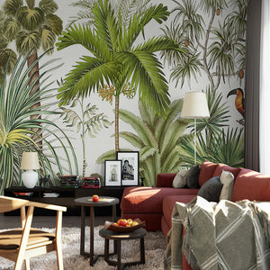 custom-3d-wall-mural-wallpaper-tropical-rainforest-green-plants-hand-painted-oil-painting-living-room-sofa-background-wall-paper
