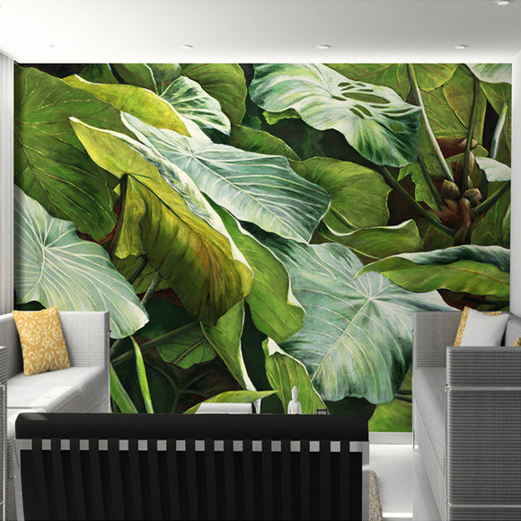 custom-mural-wallpaper-southeast-asian-tropical-jungle-foliage-large-leaves-oil-painting-for-living-room-decoration-wallpaper
