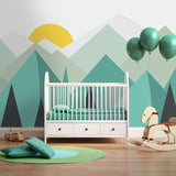 pure-green-mountain-art-wallpaper-mural-on-the-wall-for-kids-room-wallpaper-nursery-room-wall-decor-free-shipping