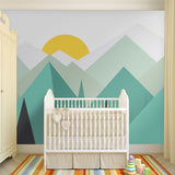 custom-wallcovering-pure-green-mountain-art-wallpaper-mural-on-the-wall-for-kids-room-wallpaper-nursery-room-wall-decor-free-shipping