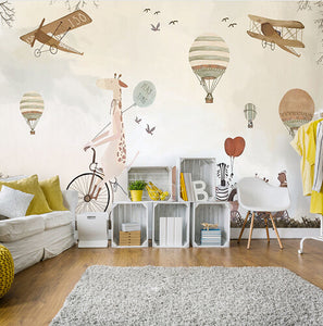 custom-mural-wallpaper-decoration-for-kids-room-nursery-room-wallpaper-mural