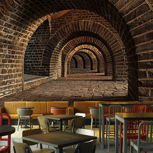 custom-3d-mural-wallpaper-creative-extended-space-brick-wall-tunnel-bar-restaurant-personality-wall-painting-non-woven-wallpaper