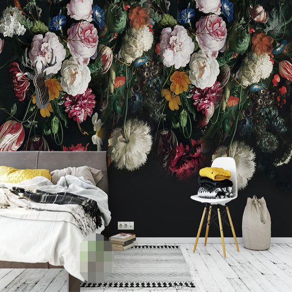 custom-any-size-3d-wall-murals-wallpaper-retro-hand-painted-floral-wall-painting-living-room-bedroom-home-mural-wallpaper-flower