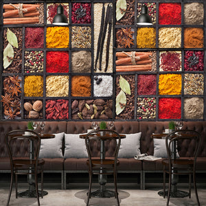 custom-3d-photo-wallpaper-spices-seasoning-ingredients-raw-materials-food-wall-painting-restaurant-kitchen-backdrop-decor-mural