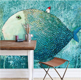 custom-wallcovering-wallpaper-fish-fairy-ocean-blue-color-wall-background-poster-mural-wallpaper-for-living-room-bedroom-discount