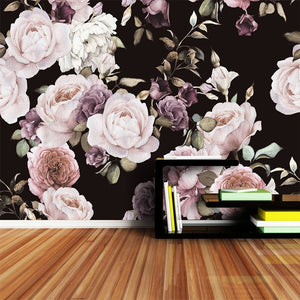 custom-3d-photo-wallpaper-mural-hand-painted-black-white-rose-peony-flower-wall-mural-living-room-home-decor-painting-wall-paper-papier-peint-flowers