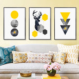 abstract-geometric-triangles-deer-poster-canvas-printings-wall-art-paintings-pictures-for-living-room-home-decorations