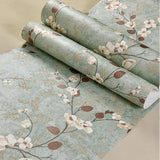 papel-de-parede-3d-pastoral-flowers-bird-wallpaper-embossed-green-wall-paper-for-living-room-tv-background-covering