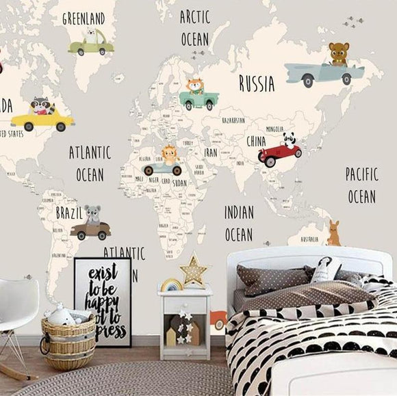 custom-size-wallpaper-cartoon-world-map-mural-for-kids-room