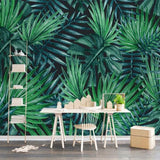 custom-wall-mural-wallpaper-european-style-nordic-simplicity-rain-forest-plant-banana-leaf-pastoral-wall-painting-wallpaper-3d