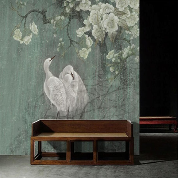chinese-painting-new-chinese-style-wall-art-pen-hand-painted-flowers-and-birds-vintage-chinese-custom-wallpaper-mural