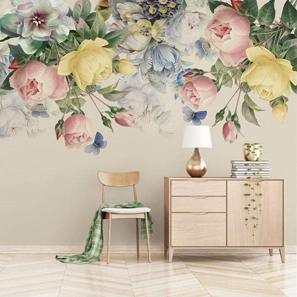custom-size-3d-mural-wallpaper-european-style-floral-living-room-tv-backdrop-photo-wall-paper-hand-painted-rose-flower-art-mural-papier-peint