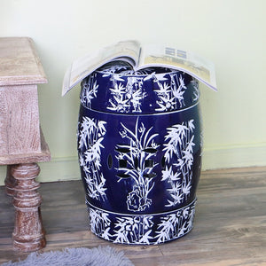 jingdezhen-blue-and-white-porcelain-bamboo-leaf-pattern-ceramic-stool-drum-creative-classical-chinese-style-decorations-stool-sofa-table