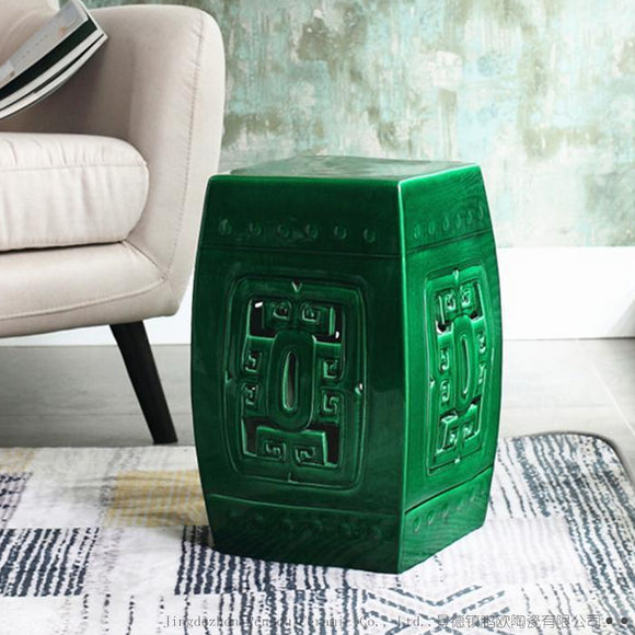 chinese-style-archaize-porcelain-stool-square-hotel-sitting-room-study-dress-green-color-porcelain-ceramic-stool-sofa-table