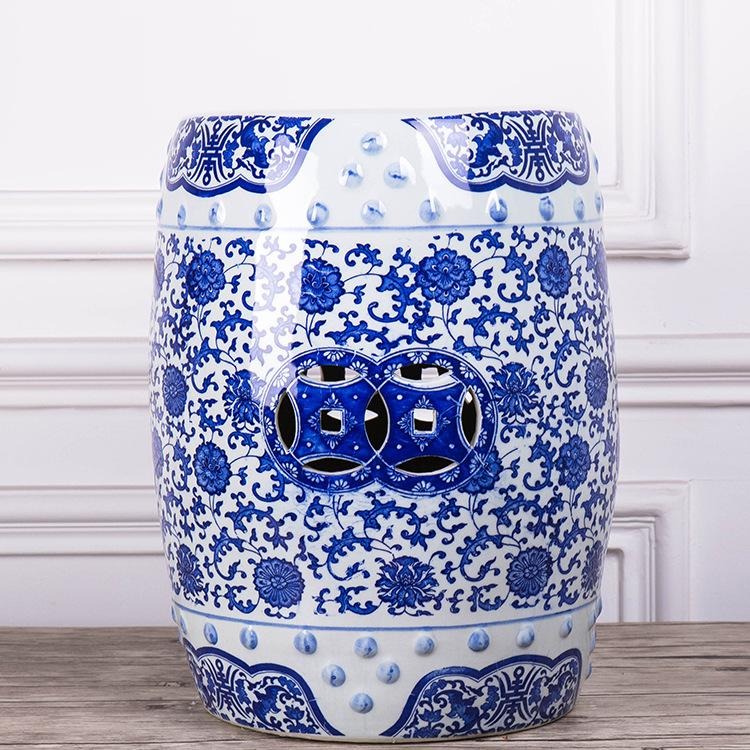 Miraculous Chinese Ceramic Drum Stool Blue And White Garden Stool Gamerscity Chair Design For Home Gamerscityorg