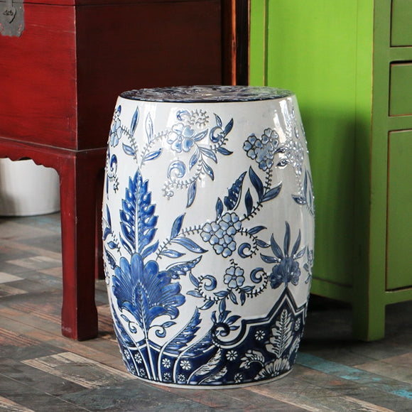 chinoiserie-blue-and-white-ceramic-drum-stool-sofa-table-ceramic-stool-blue-and-white-ancient-porcelain-ceramic-stool