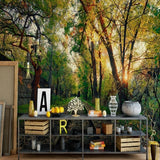 green-wallpaper-trees-nature-train-rail-nordic-wallpaper-living-room-bedroom-3d-mural-wallpaper-papel-de-parede-papier-peint-forest