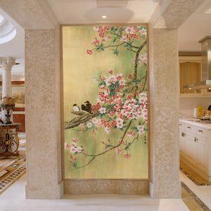 custom-wallpaper-mural-for-entrance-hallway-chinese-style-wallcovering-㎡-papier-peint-birds-flowers