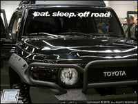 Eat. Sleep. Off Road - Windshield Decal