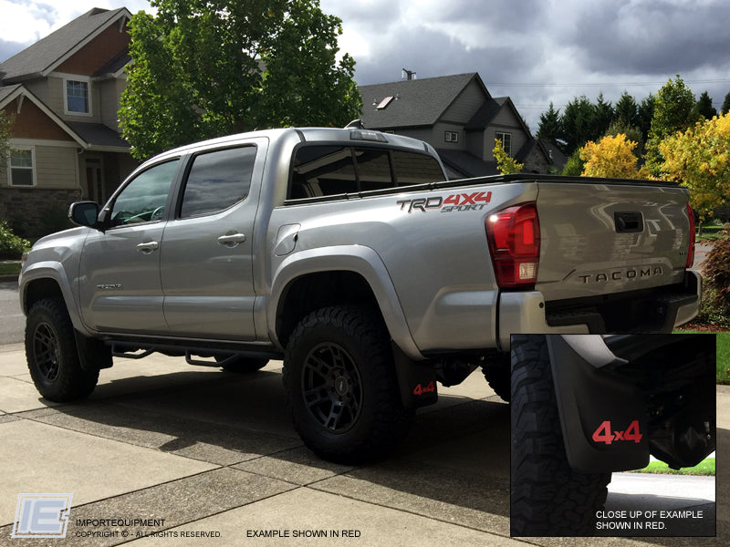 tacoma mud toyota flap decals trd 4wd