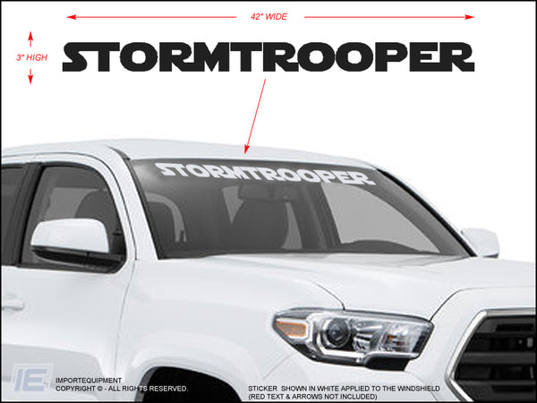 Stormtrooper Windshield Decal