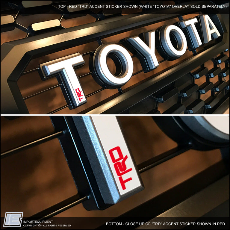 trd tacoma pro grill toyota accent decal sticker decals