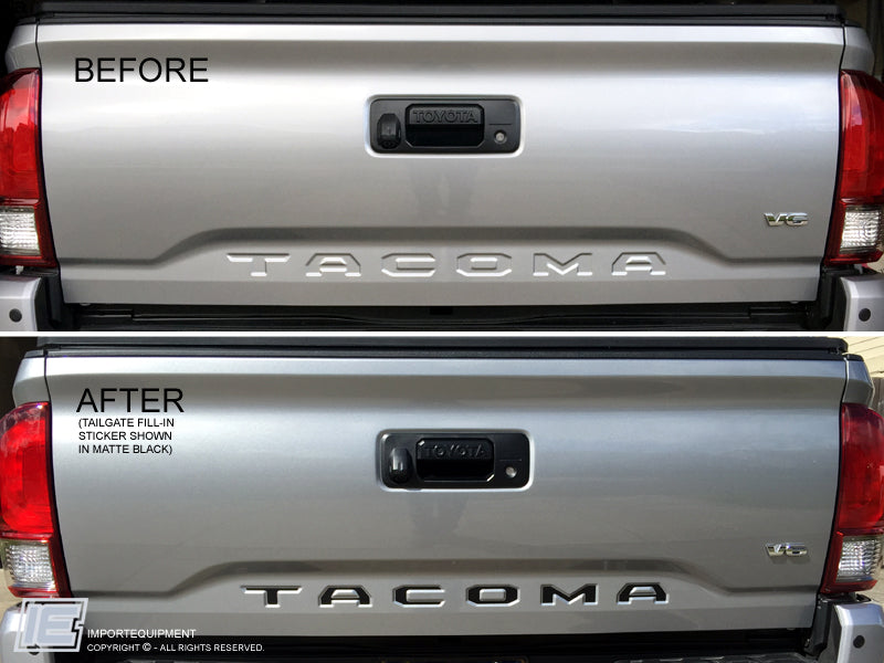 2016 Honda Element >> Toyota Tacoma Tailgate Letter Inserts Fill-in Decal 2016